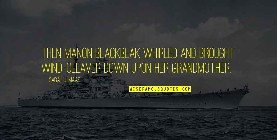 Cleaver Quotes By Sarah J. Maas: Then Manon Blackbeak whirled and brought Wind-Cleaver down