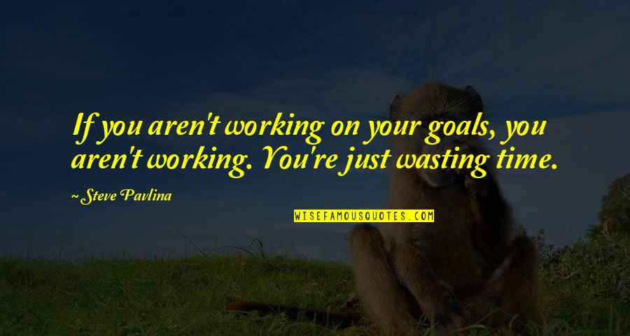 Clever Cosmetology Quotes By Steve Pavlina: If you aren't working on your goals, you