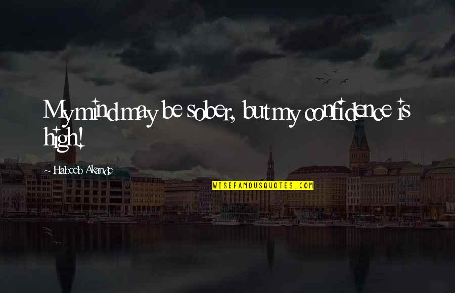 Clever Springtime Quotes By Habeeb Akande: My mind may be sober, but my confidence