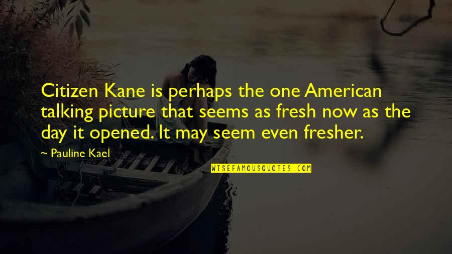 Cliff Barnes Quotes By Pauline Kael: Citizen Kane is perhaps the one American talking