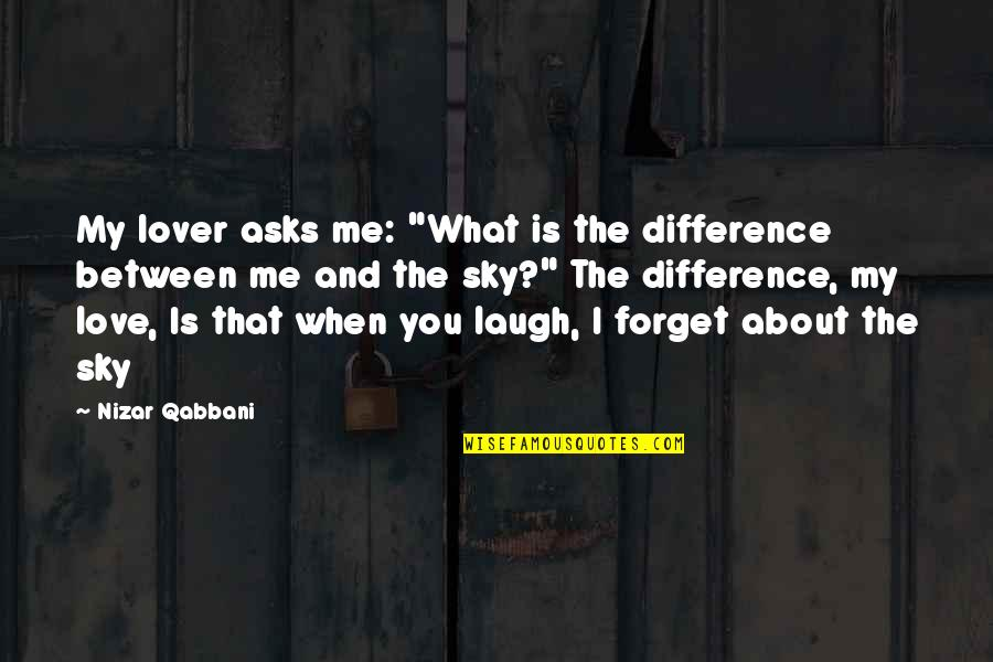 "Clingings Quotes By Nizar Qabbani: My lover asks me: ""What is the difference"