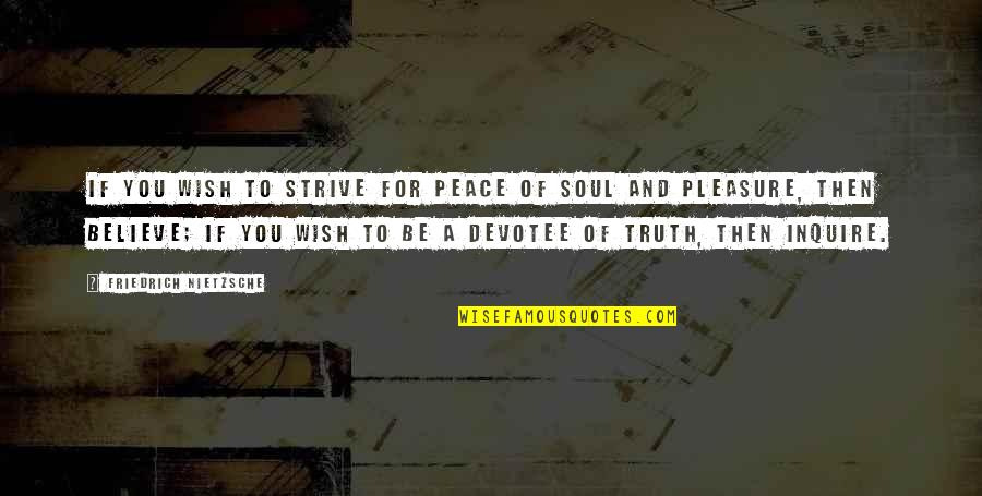 Clip Art Quotes By Friedrich Nietzsche: If you wish to strive for peace of