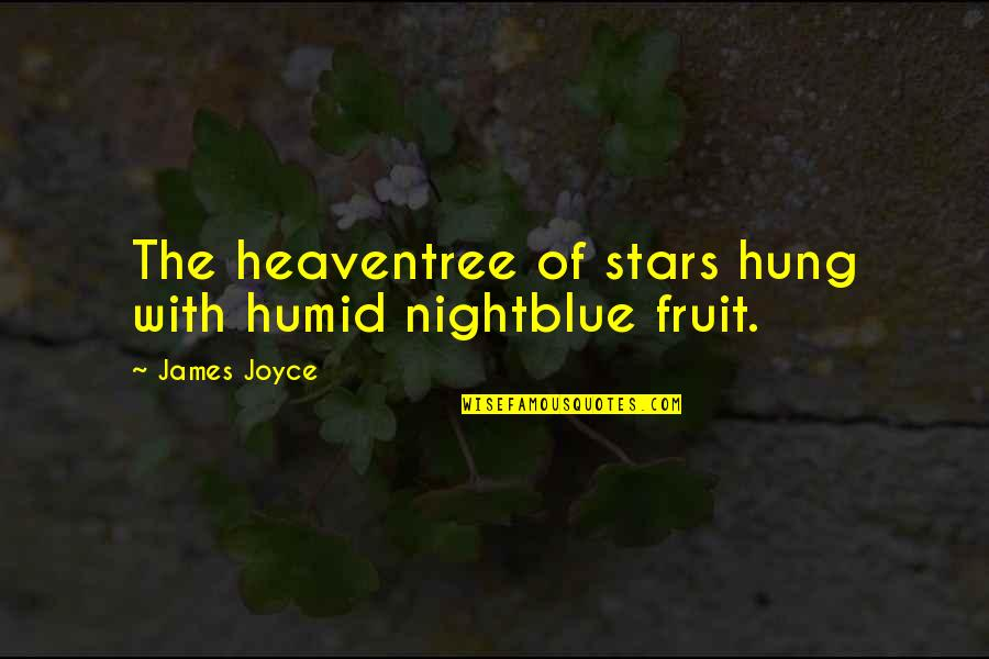 Clip Art Quotes By James Joyce: The heaventree of stars hung with humid nightblue