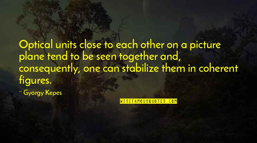 Close Up Picture Quotes By Gyorgy Kepes: Optical units close to each other on a