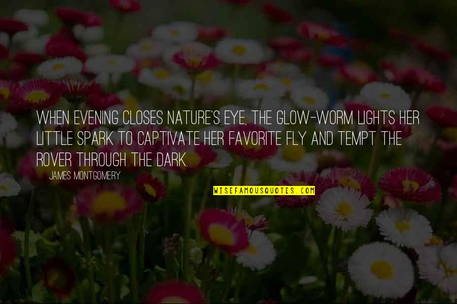 Closes Quotes By James Montgomery: When evening closes Nature's eye, The glow-worm lights