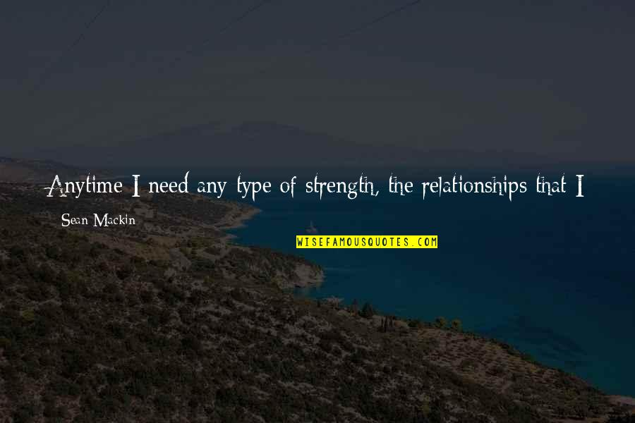 Closest Friends Quotes By Sean Mackin: Anytime I need any type of strength, the