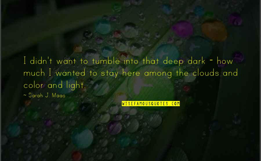 Clouds And Light Quotes By Sarah J. Maas: I didn't want to tumble into that deep