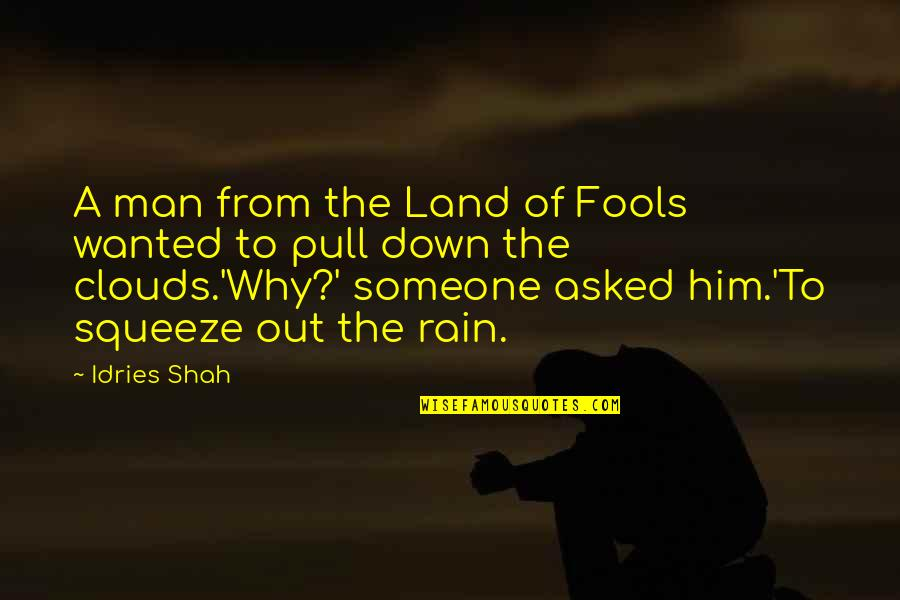 Clouds And Rain Quotes By Idries Shah: A man from the Land of Fools wanted