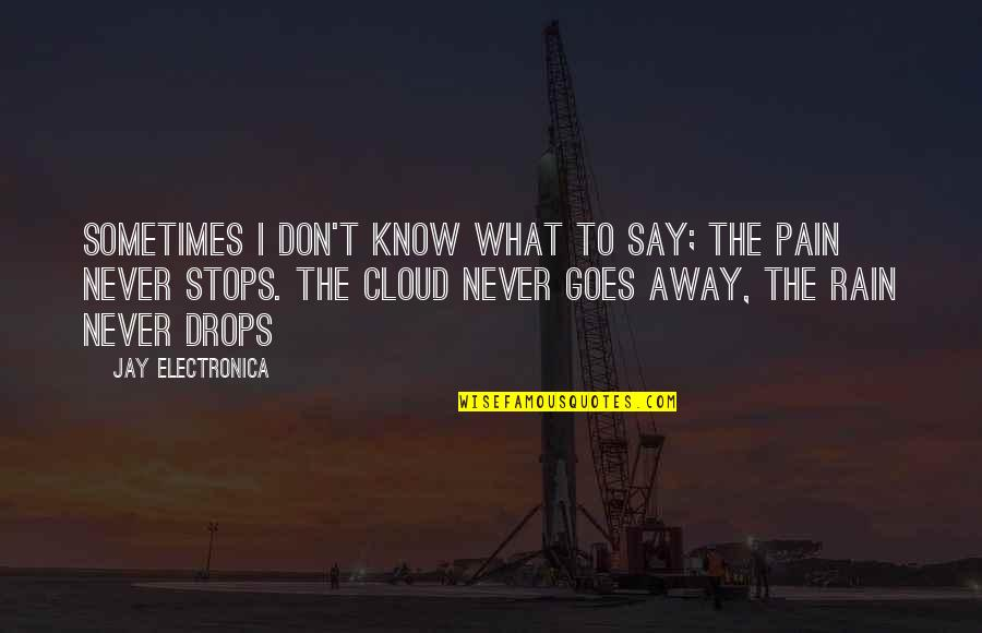 Clouds And Rain Quotes By Jay Electronica: Sometimes I don't know what to say; the