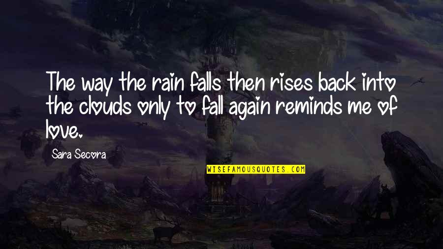 Clouds And Rain Quotes By Sara Secora: The way the rain falls then rises back