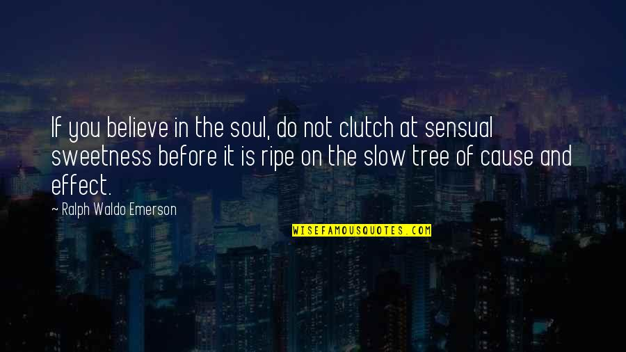Clutch Quotes By Ralph Waldo Emerson: If you believe in the soul, do not