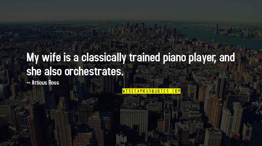 Cnbc Mobile Quotes By Atticus Ross: My wife is a classically trained piano player,
