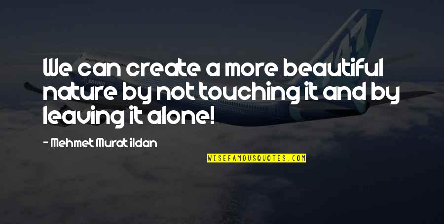 Co-creation Famous Quotes By Mehmet Murat Ildan: We can create a more beautiful nature by
