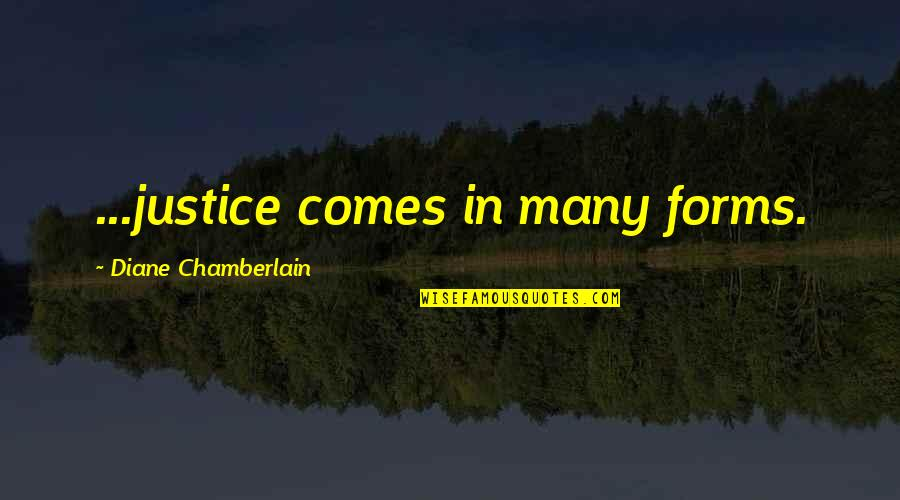 Co To Znaczy Quotes By Diane Chamberlain: ...justice comes in many forms.