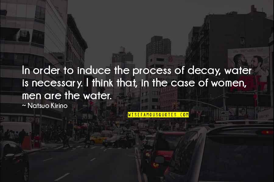 Coach Chris Petersen Quotes By Natsuo Kirino: In order to induce the process of decay,