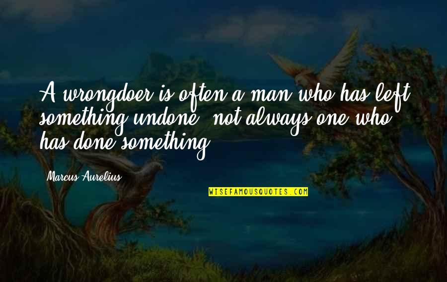 Coahuiltecans Quotes By Marcus Aurelius: A wrongdoer is often a man who has