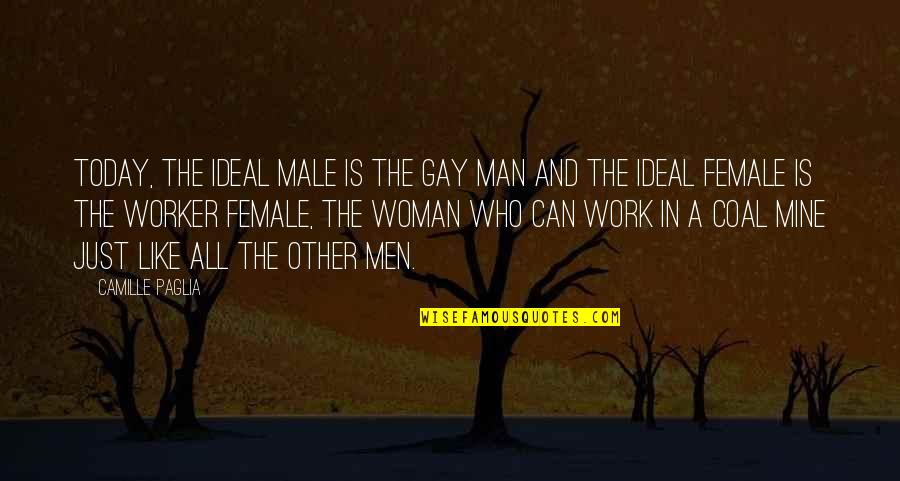 Coal Quotes By Camille Paglia: Today, the ideal male is the gay man