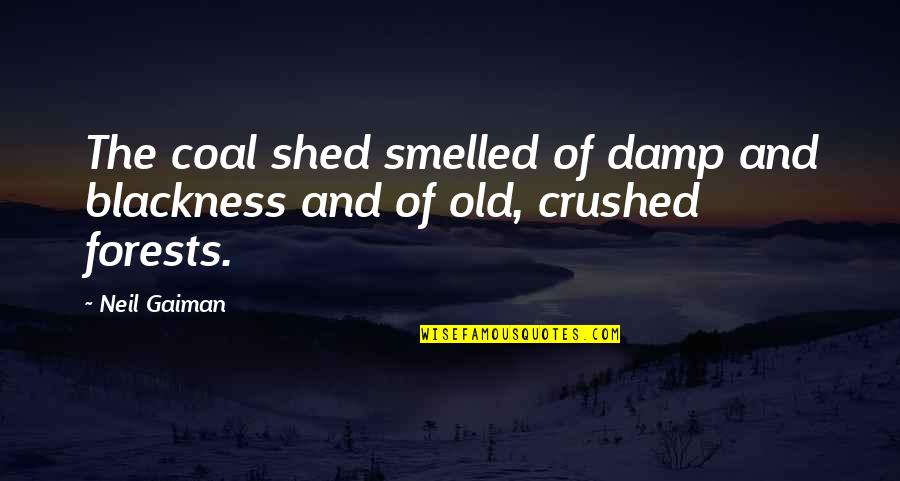 Coal Quotes By Neil Gaiman: The coal shed smelled of damp and blackness