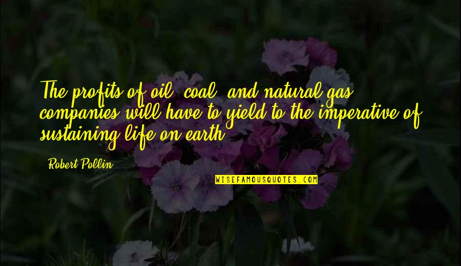 Coal Quotes By Robert Pollin: The profits of oil, coal, and natural gas