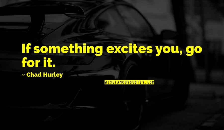 Coase Quotes By Chad Hurley: If something excites you, go for it.