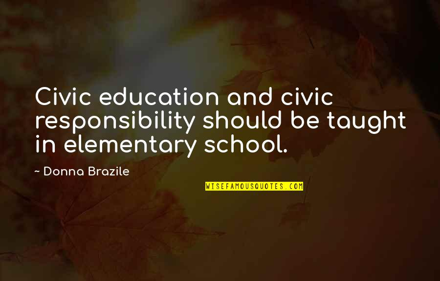 Codeigniter Escape Single Quotes By Donna Brazile: Civic education and civic responsibility should be taught