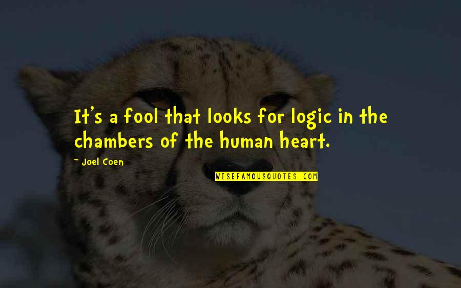 Coen Quotes By Joel Coen: It's a fool that looks for logic in