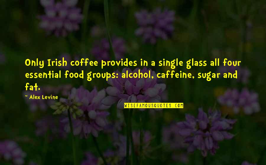 Coffee And Alcohol Quotes By Alex Levine: Only Irish coffee provides in a single glass