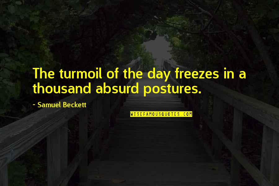 Coffee And Alcohol Quotes By Samuel Beckett: The turmoil of the day freezes in a