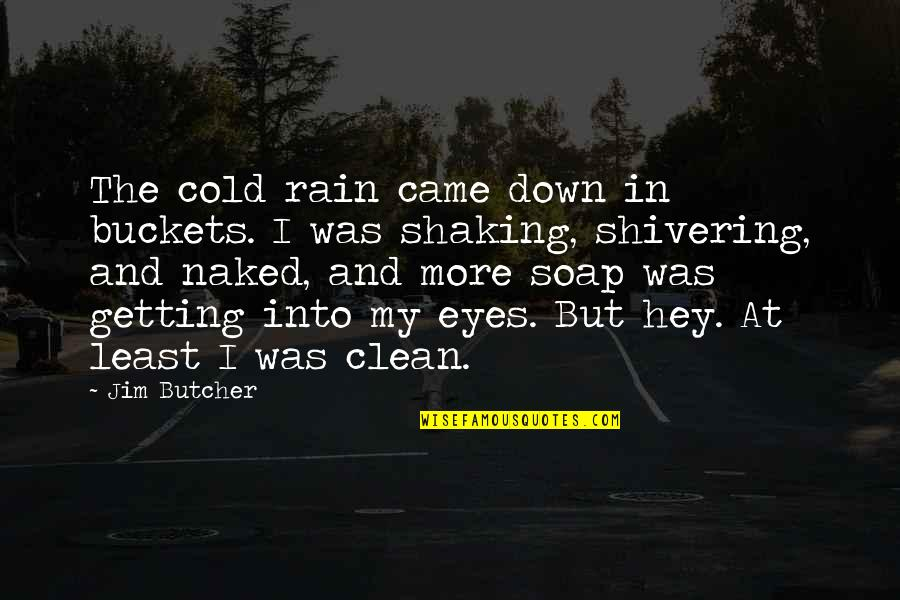 Cold Eyes Quotes By Jim Butcher: The cold rain came down in buckets. I