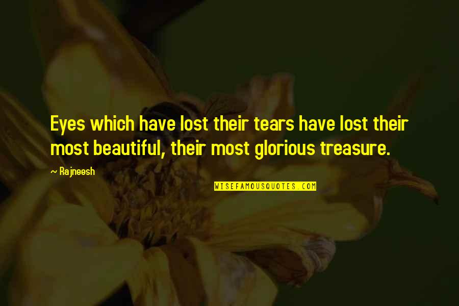 Cold Turkey Quotes By Rajneesh: Eyes which have lost their tears have lost
