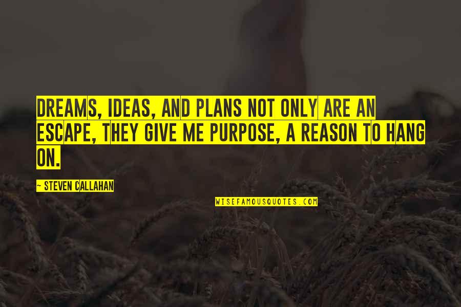 Cold Turkey Quotes By Steven Callahan: Dreams, ideas, and plans not only are an
