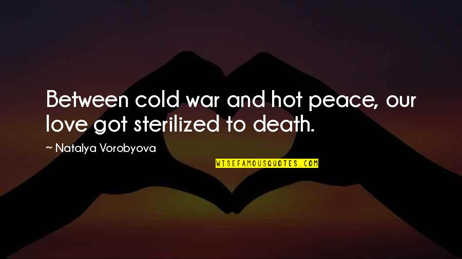Cold War Quotes By Natalya Vorobyova: Between cold war and hot peace, our love