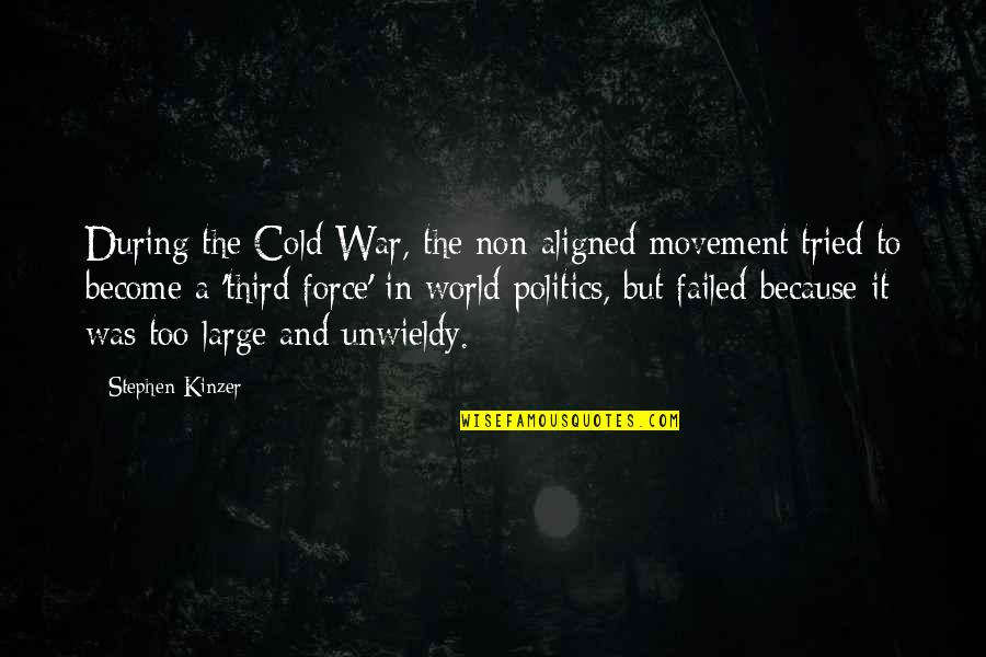 Cold War Quotes By Stephen Kinzer: During the Cold War, the non-aligned movement tried