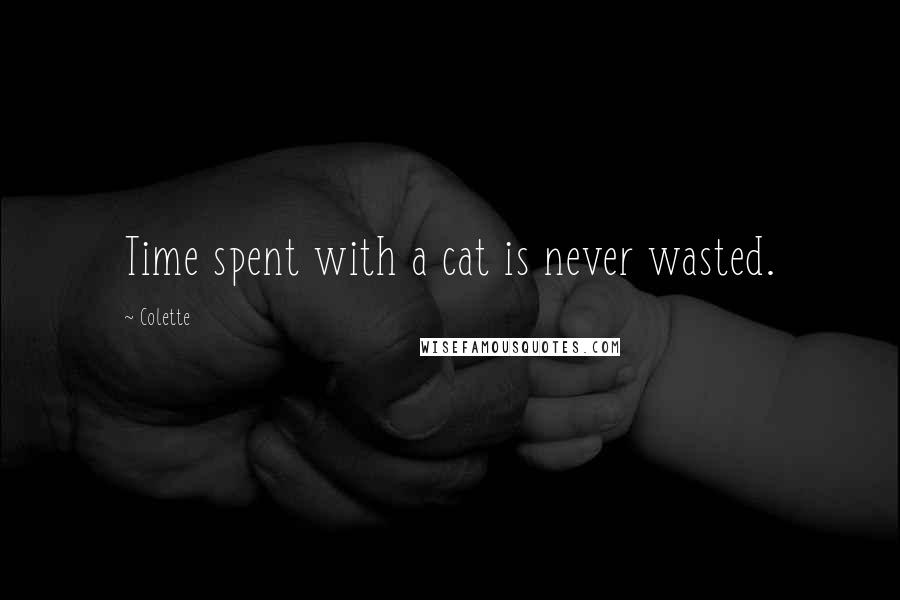 Colette quotes: Time spent with a cat is never wasted.