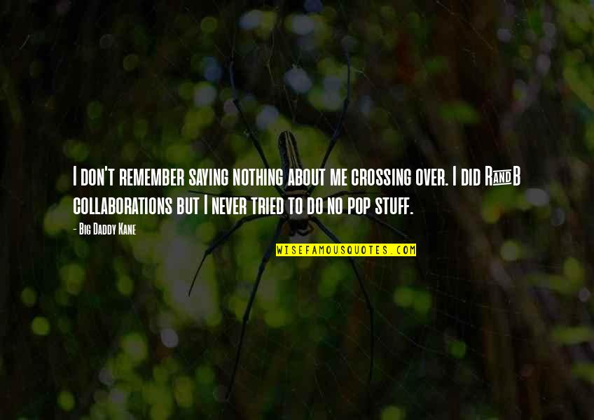 Collaborations Quotes By Big Daddy Kane: I don't remember saying nothing about me crossing