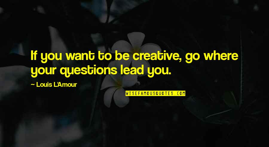 College Event Invitation Quotes By Louis L'Amour: If you want to be creative, go where