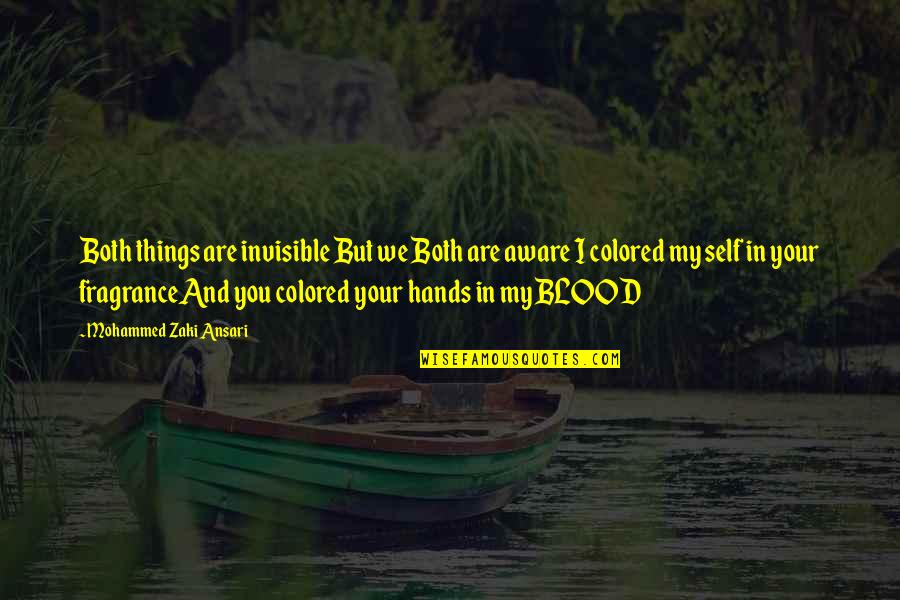 Colored Life Quotes By Mohammed Zaki Ansari: Both things are invisible But we Both are