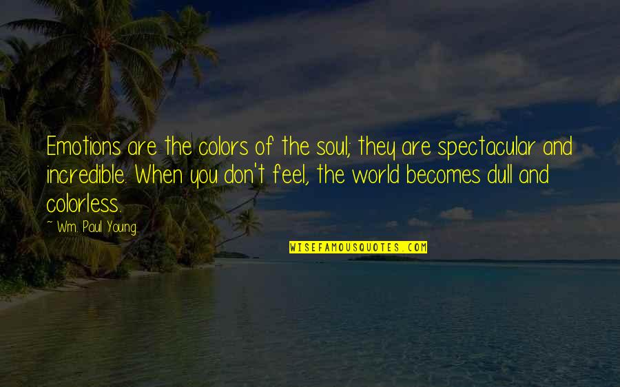 Colors Of The World Quotes By Wm. Paul Young: Emotions are the colors of the soul; they