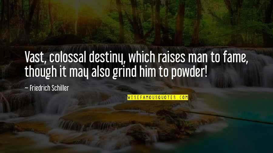 Colossal Quotes By Friedrich Schiller: Vast, colossal destiny, which raises man to fame,