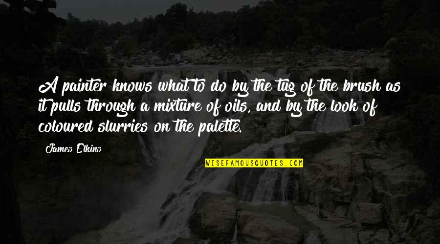 Coloured Quotes By James Elkins: A painter knows what to do by the