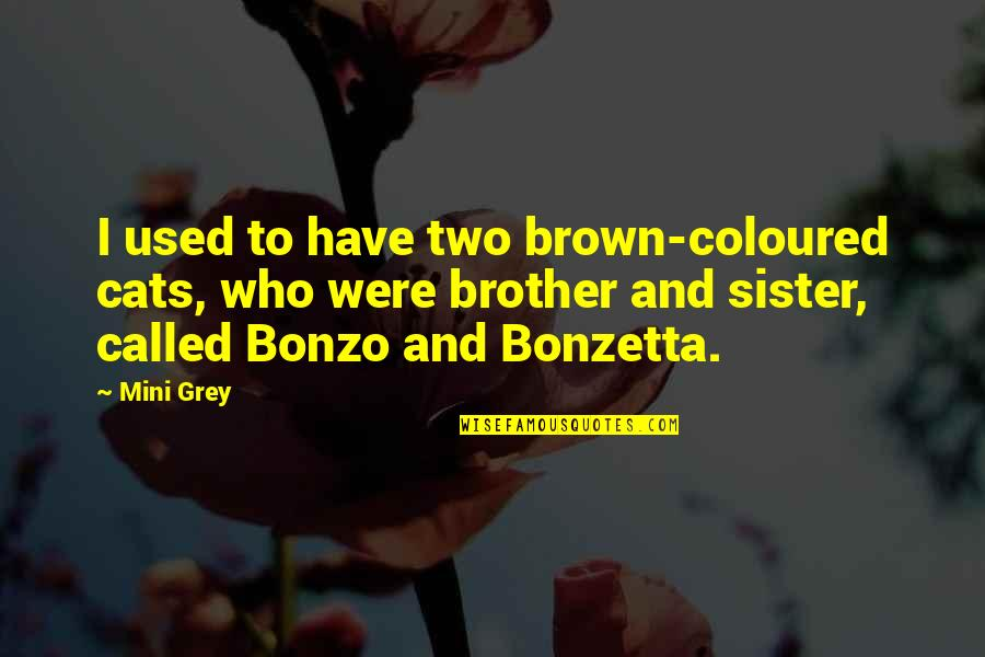 Coloured Quotes By Mini Grey: I used to have two brown-coloured cats, who