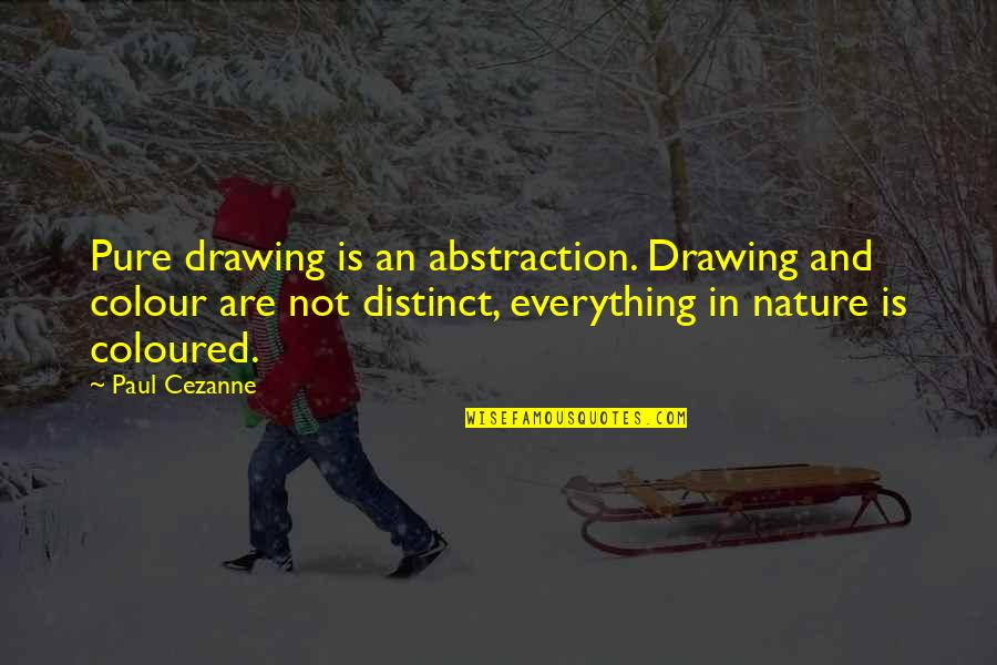 Coloured Quotes By Paul Cezanne: Pure drawing is an abstraction. Drawing and colour