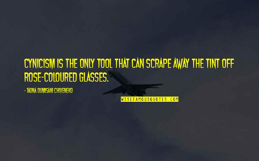 Coloured Quotes By Taona Dumisani Chiveneko: Cynicism is the only tool that can scrape