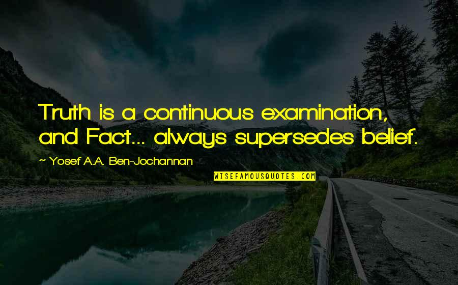 Colt Ford Quotes By Yosef A.A. Ben-Jochannan: Truth is a continuous examination, and Fact... always