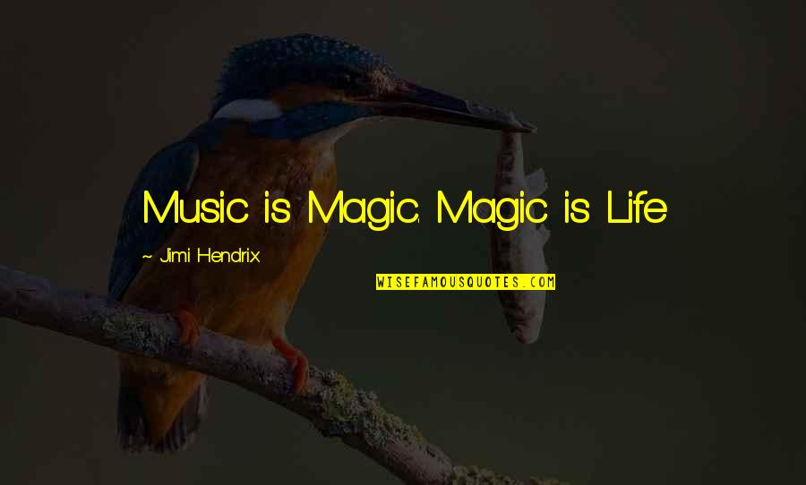 Colt Gun Quotes By Jimi Hendrix: Music is Magic. Magic is Life