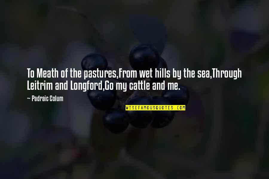 Colum's Quotes By Padraic Colum: To Meath of the pastures,From wet hills by
