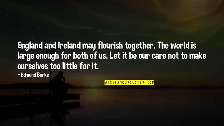 Come Join Us Quotes By Edmund Burke: England and Ireland may flourish together. The world