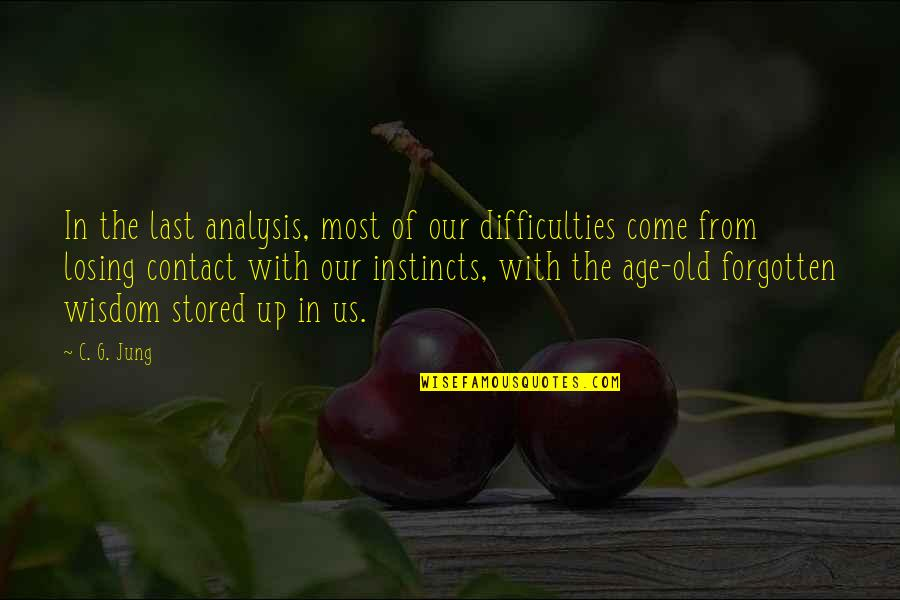 Come Up With Quotes By C. G. Jung: In the last analysis, most of our difficulties