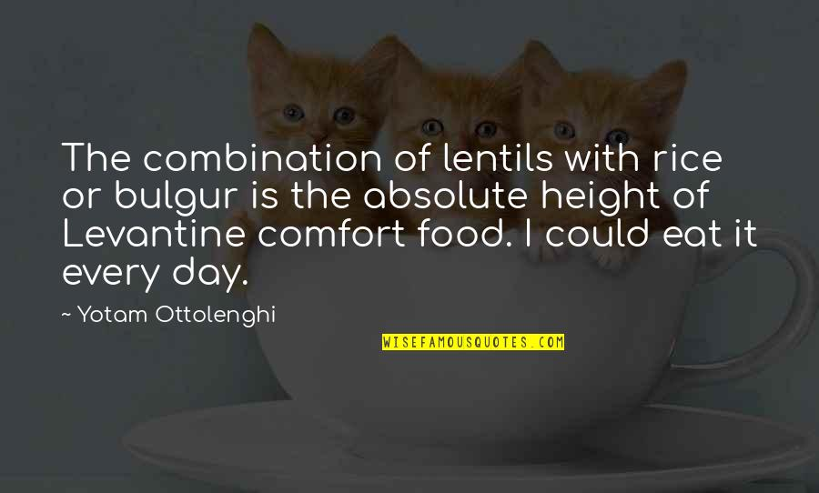 Comfort Food Quotes By Yotam Ottolenghi: The combination of lentils with rice or bulgur
