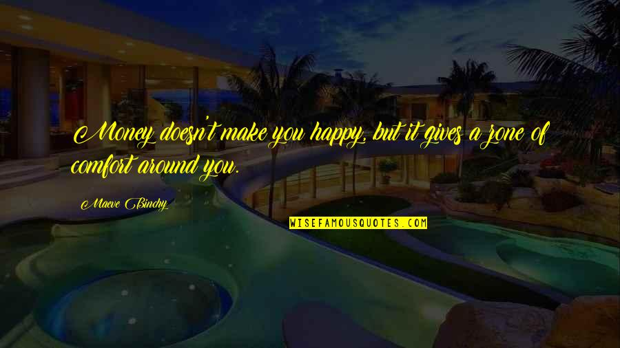 Comfort Zone Quotes By Maeve Binchy: Money doesn't make you happy, but it gives